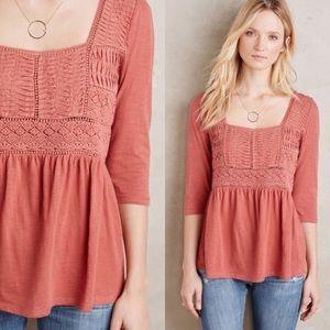 Anthropologie Meadow Rue | Crochet Peasant Blouse